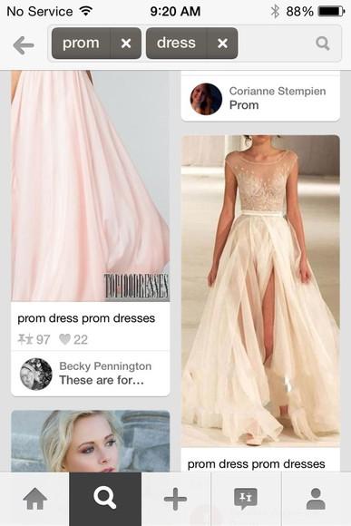 cream long prom dresses