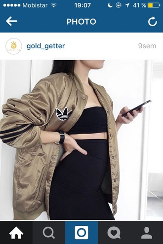 jacket adidas gold tumblr oversized cool swag style