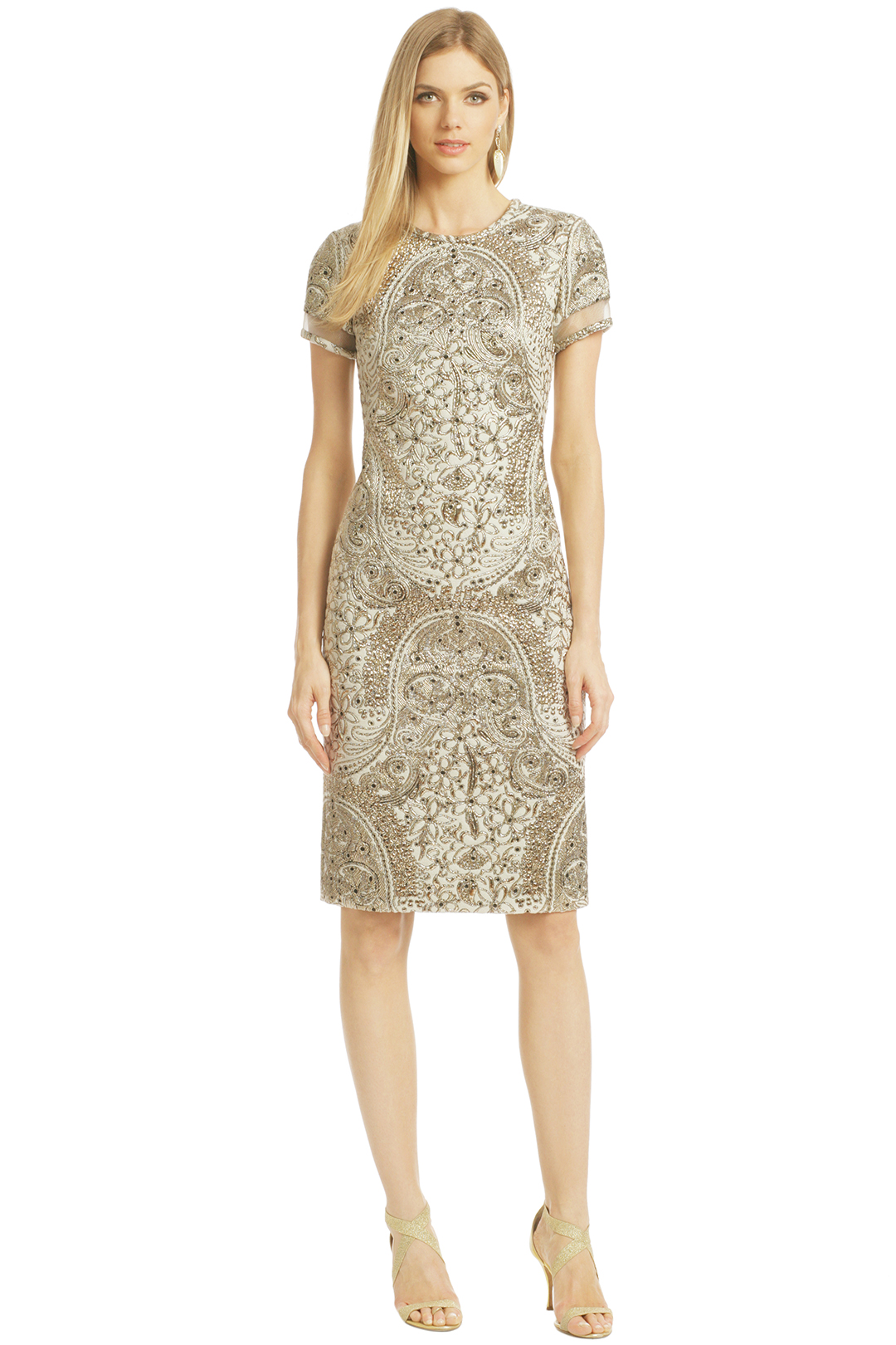 Baroness Sheath by pamella roland at $350 | Rent The Runway