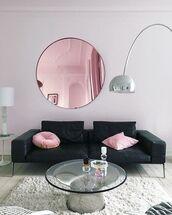 home accessory,rug,tumblr,home decor,furniture,home furniture,living room,sofa,pillow,mirror,metallic lamp,lamp,table