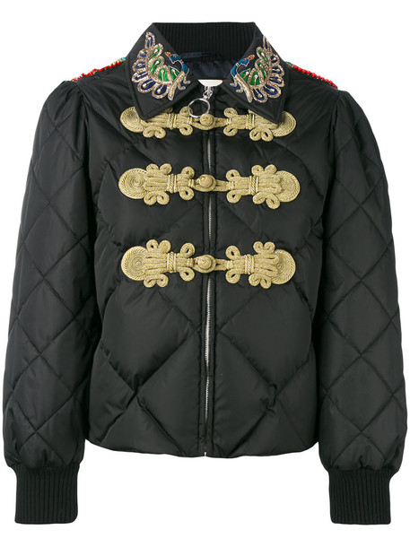 e5a11a89db774 gucci Gucci - crystal-embellished padded jacket - women - Polyamide Acrylic Acetate Goose  Down - 38