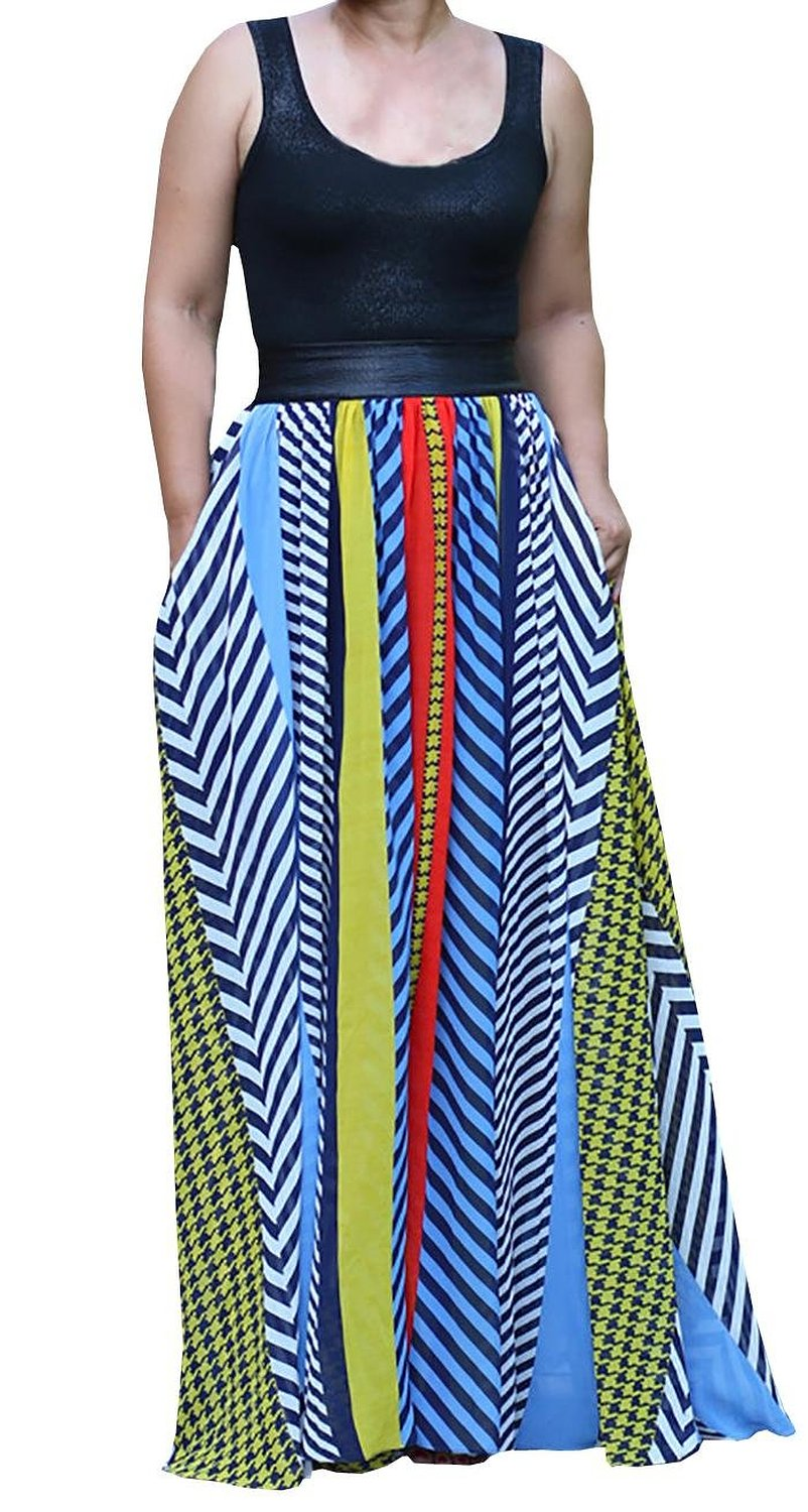 Ybenlow Womens Bohemian Sexy Printed Maxi Beach Tank Dress: Amazon Fashion