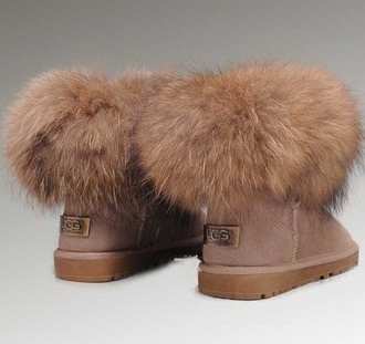 shoes colorful ugg boots fur nude faux fur