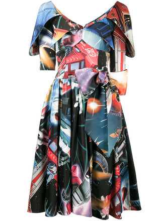 dress print dress space women print