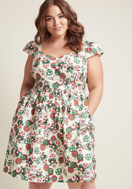 Modcloth dress holiday dress lovely green