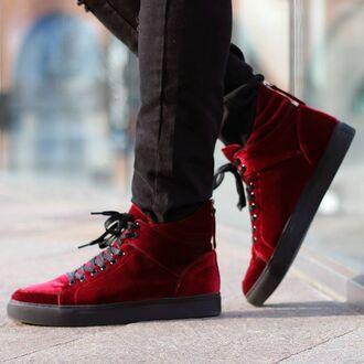 shoes maniere de voir sneakers trainers velvet red velvet virtue devendra banhart