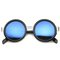Arma revo mirror round frame sunglasses in black silver at flyjane
