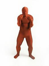 jumpsuit,zentai,costumes,lycra,lycra spandex,brown