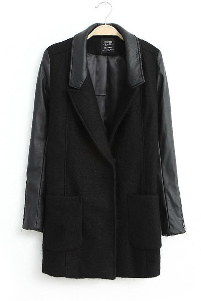 Imitation Suede Woolen Joint Leisure Overcoat,Cheap in Wendybox.com