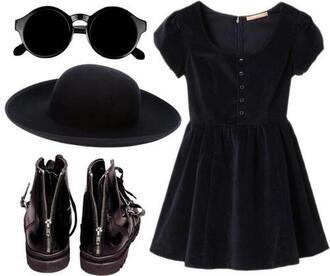 shoes boots dress black black velvet black velvet dress goth black dress babydoll dress grunge little black dress