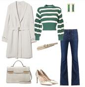 sweater,green,stripes