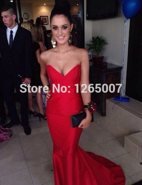 Aliexpress.com : Buy Red Fashion Sweetheart Slim Mermaid Evening Dress New Fashion Formal Special Occasion Dress Beautiful from Reliable dresses with short sleeves suppliers on SFBridal