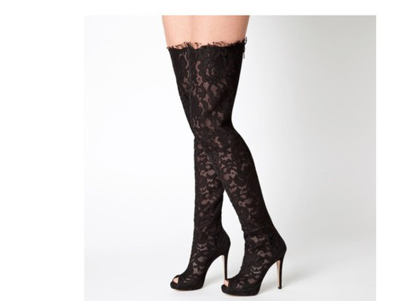 peep toe boots peep toe thigh high boots lace