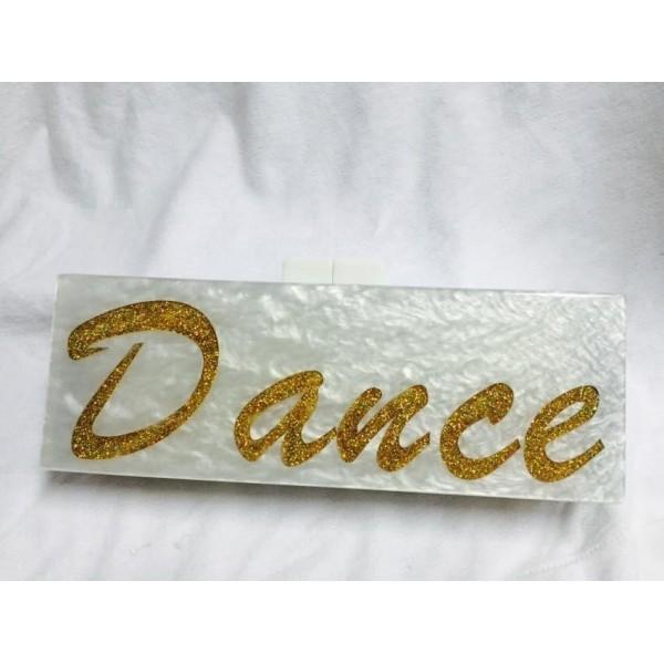 Dance pearl clutch