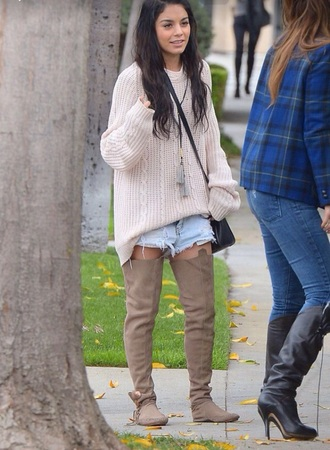 shoes flats flat boots boots thigh highs thigh-high boots fashion moccasins style browm brown leather boots venessa hudgens