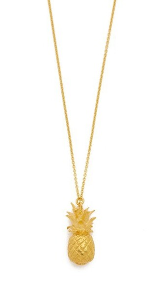 pineapple necklace gold jewels