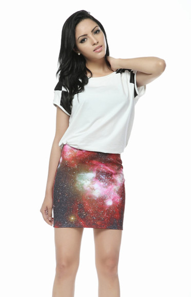 space galaxy cute skirt pattern