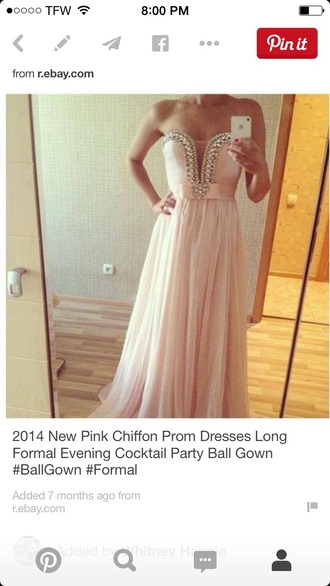 dress light pink prom long pink pretty long dress formal dress prom dress