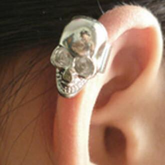 skull finest earrings jewels halloween accessory