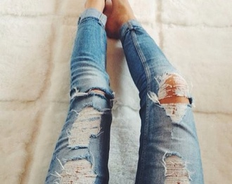jeans cool ripped jeans denim skinny jeans blue hot