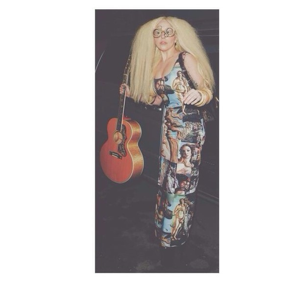 lady gaga skirt dress gods pattern artpop