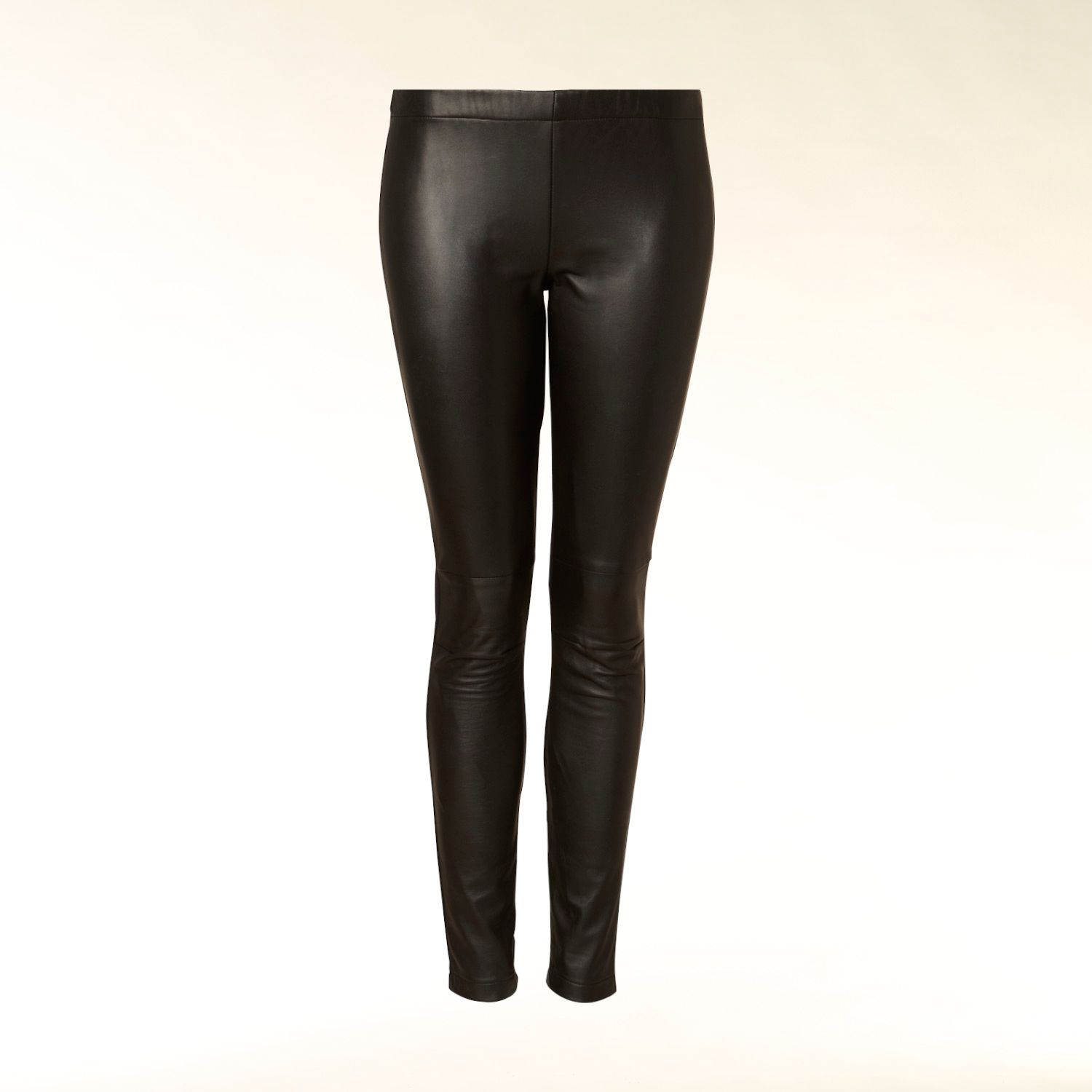 Hallhuber Leather front leggings Black - House of Fraser