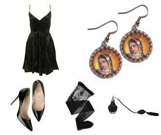 dress black goth vintage retro reclaimed tumblr grunge 90s style