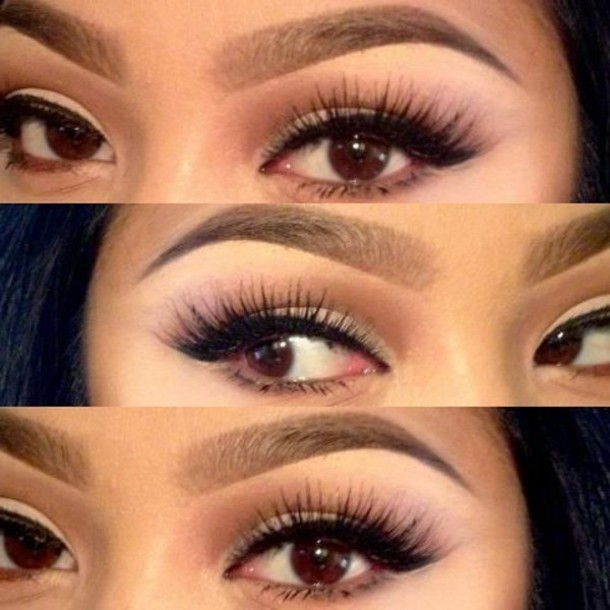 make-up gradient  effect eyebrows