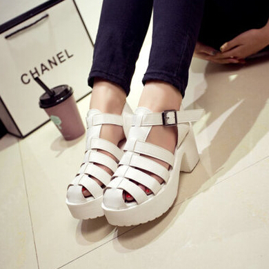 Seoul cat sty nda platform thick heel sandals platform women's cutout platform shoes-inSandals from Shoes on Aliexpress.com
