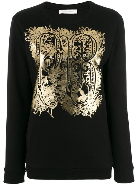 Pierre Balmain sweatshirt women cotton black sweater