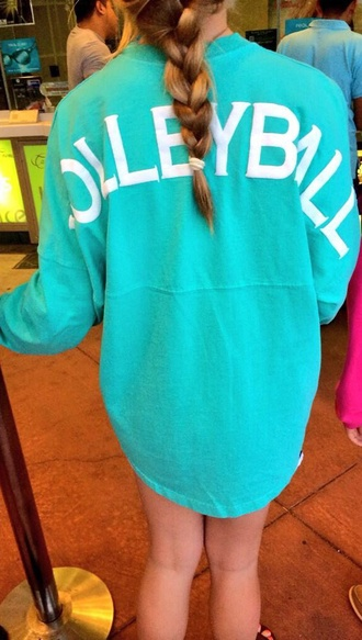 jacket sports volleyball volleyball long sleeve shirt turquoise