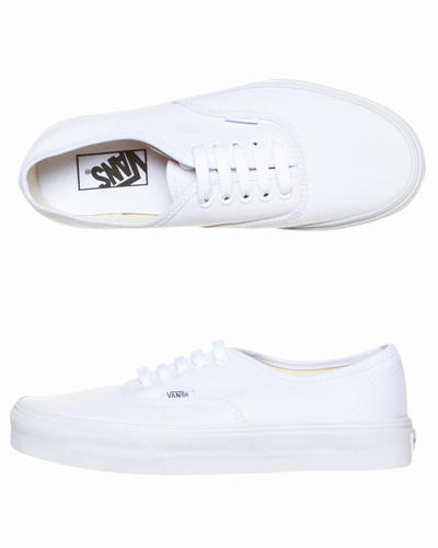 Mens authentic shoes by vans in true white