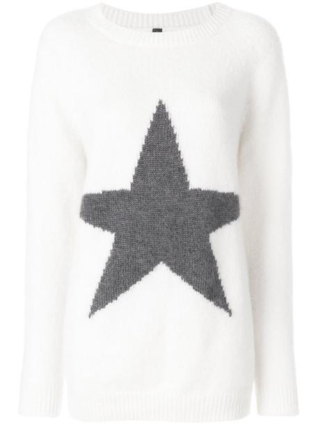 Eleventy jumper women spandex mohair nude silk wool sweater