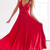 Red Crossed Backless Pleated Convertible Sexy Maxi Party Dress
