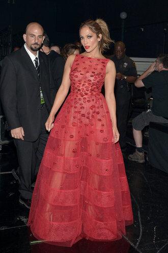 dress gown red dress jennifer lopez maxi dress prom dress amas 2015