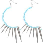jewels,candy luxx,beaded earrings,spike earrings,dangle earrings,curve earrings
