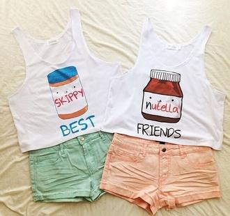 top nutella best friends t-shirt