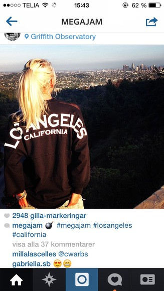 t-shirt california top los angeles sportswear