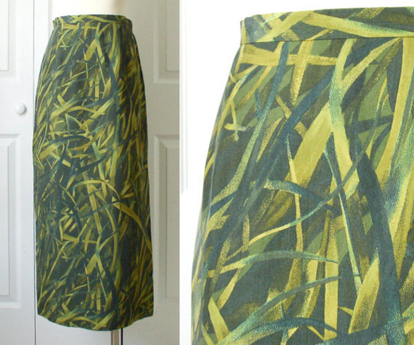 grass vintage skirt maxi skirt long skirt gianni etsy