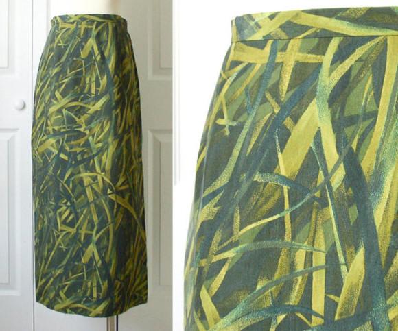 grass vintage skirt maxi skirt gianni etsy