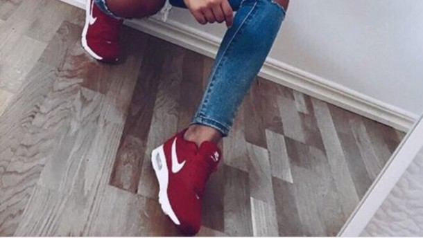 shoes burgundy nike women's shoes air max sneakers