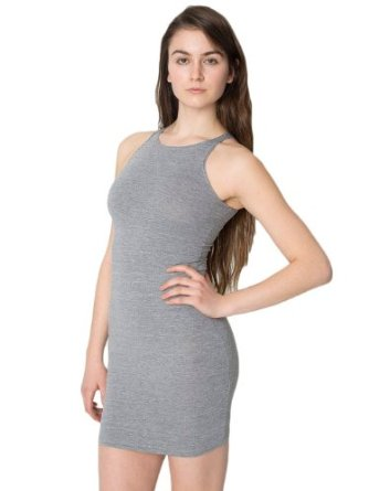 American Apparel Cotton Spandex Sleeveless Mini Dress at Amazon Women's Clothing store: