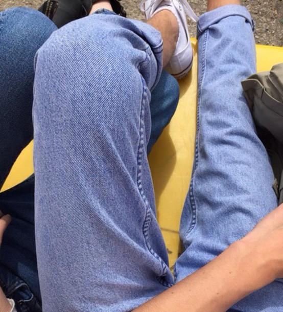 jeans, aesthetic, tumblr, high waisted light blue jeans ...