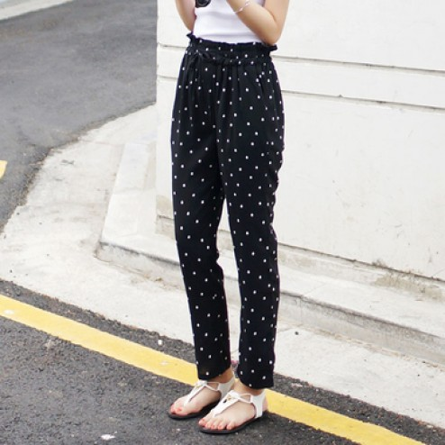 Two color-dot pants