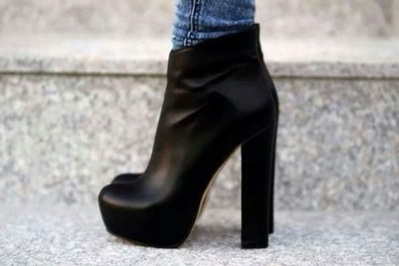 black shoes boots black boots chunky boots ankle boots leather black leather chunky heel shoes winter fashion,bone,shoes,heels,ankle boots, high heel,celebrity heels, boots, black, chunky , ankle, high, heeled , ankle boot, chelsea boot boots boots chunky heels chunky shoes winter/autumn autumn boots autumn shoes winter boots