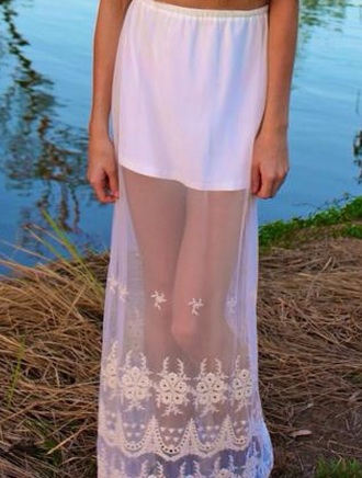 skirt sheer maxi maxi skirt
