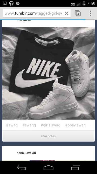 nike air nikey sportswear style clothes sweatshirt jumper hoodie nike sweater sweater sweatshirt nike black aand white tank top nike