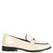 Melanie patent-leather and calf-hair loafers