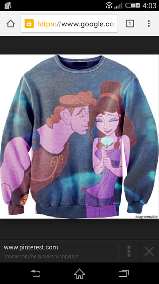 disney all over print sweater hercules need to find