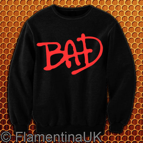 9100 Bad Tribute Michael Jackson Sweatshirt Vintage Retro 80s 90s MJ | eBay